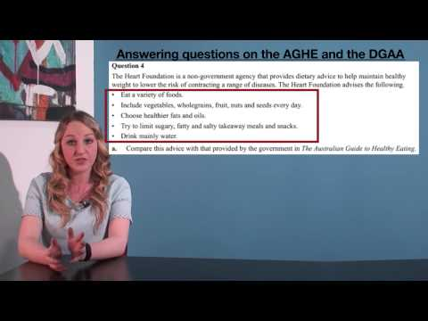 VCE HHD - Answering questions on the AGHE and DGAA