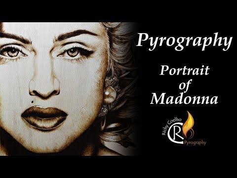 pyrography – A Madonna portrait