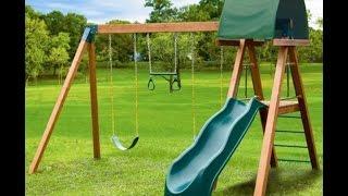 Willygoat Wooden Swing Sets Southern Deluxe Heavy Duty Wooden Swing Set For Kids