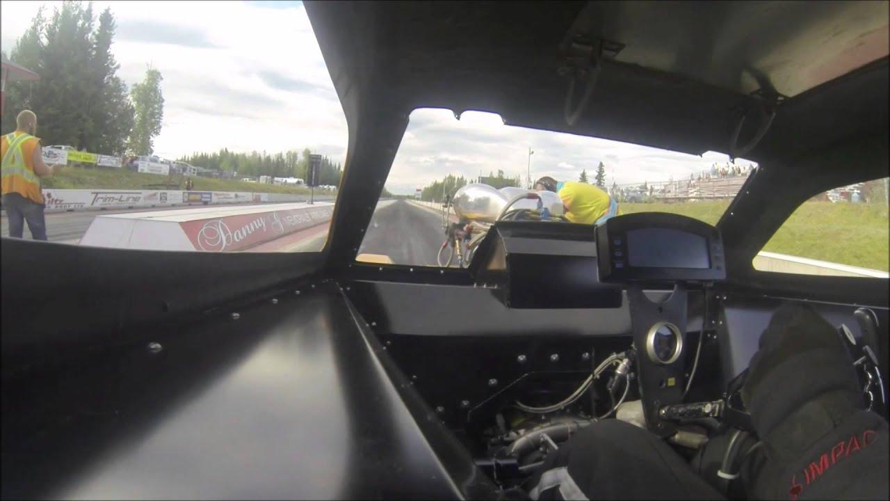 Wild West Arrow nostaglia Funny Car crash at Prince George raceway ...