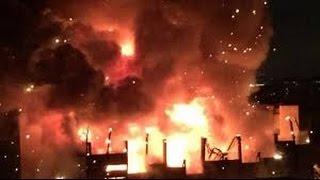Пожар века: на заводе в Тушине взорвались 400 бочек с дизтопливом