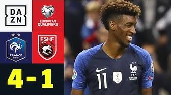 Kingsley Coman trifft doppelt: Frankreich - Albanien 4:1 | EM-Quali | DAZN Highlights