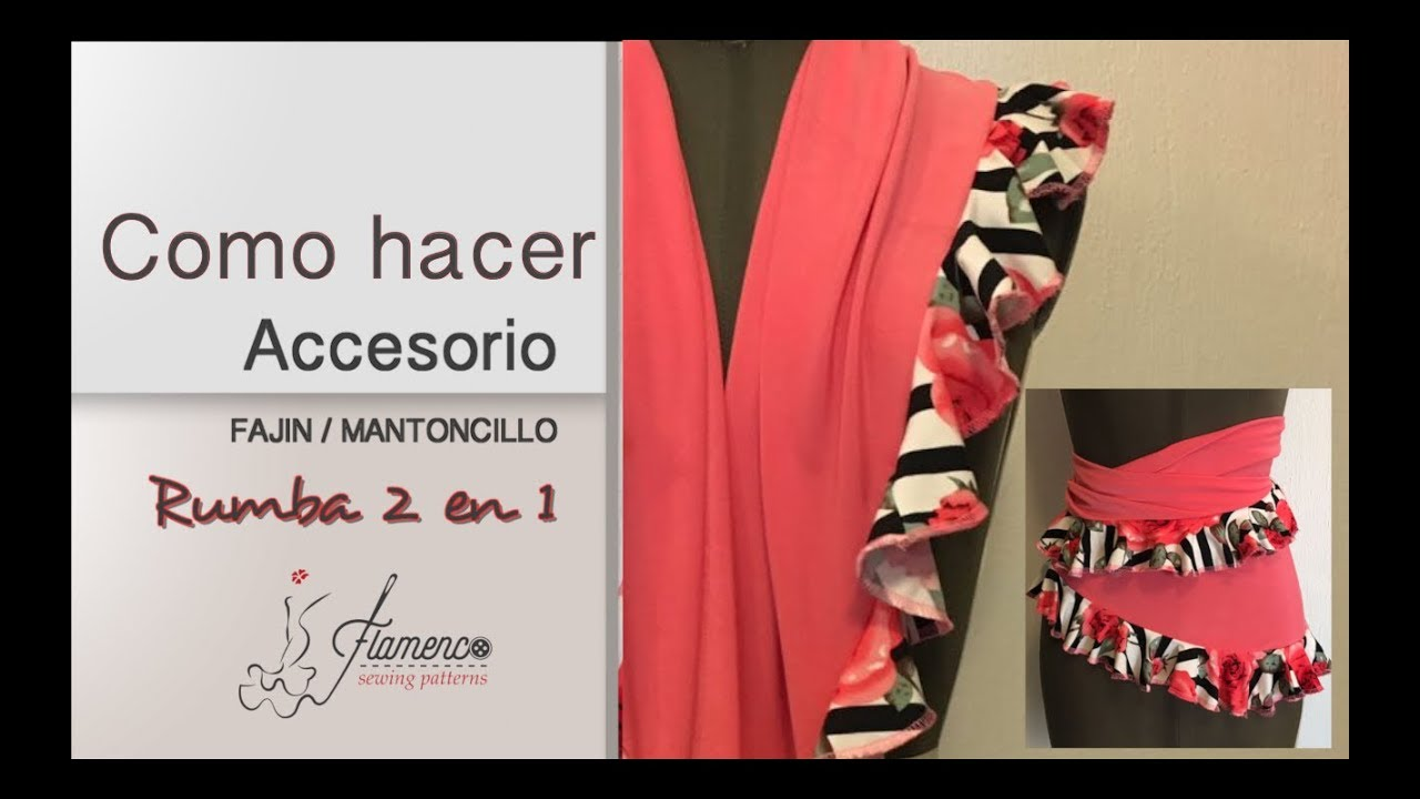 Easy Flamenco Shawl Sash Como Hacer Un Mantoncillo Fajin Youtube