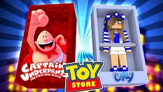 minecraft toystore captain underpants pranks malibu babrie w little carly and little kelly