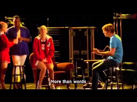 Glee more than words full performance with lyrics