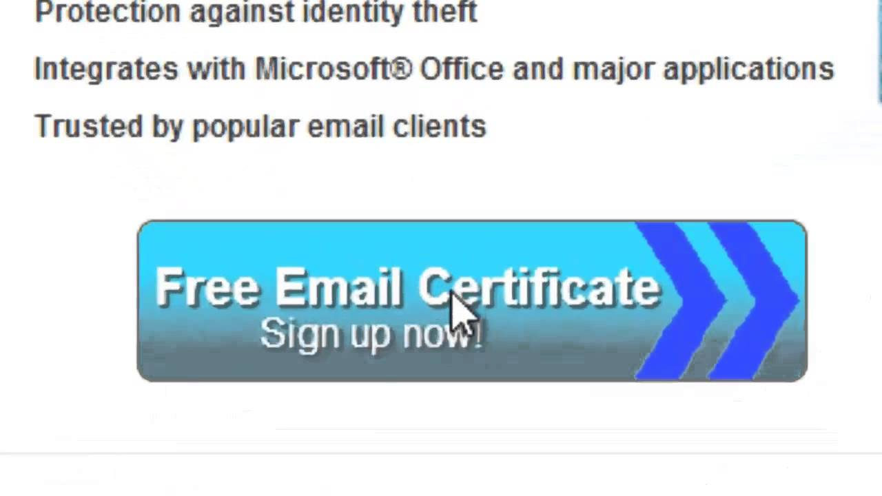 How To Get Free Email Certificate Youtube