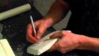 how I make molds of soft plastic fishing baits