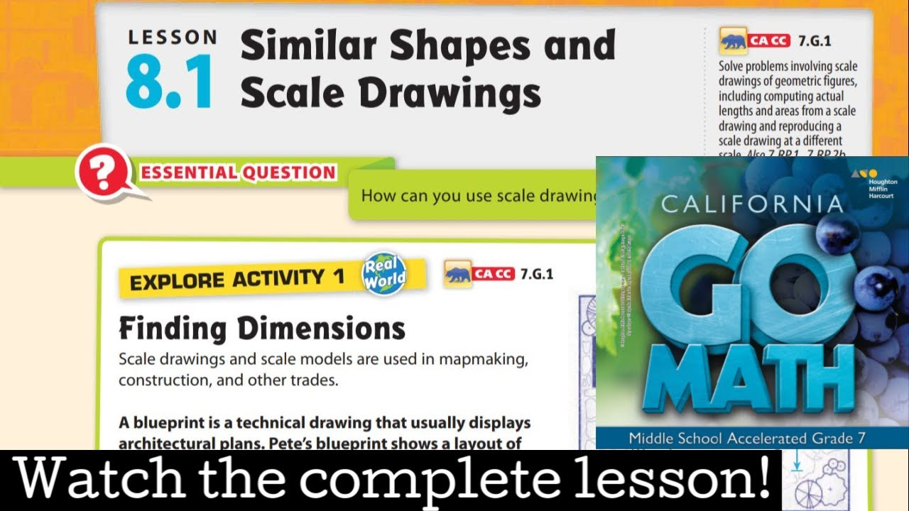 small resolution of Lesson 8.1 Similar Shapes and Scale Drawings - YouTube