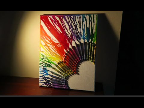How To Make Melted Crayon Art Doovi