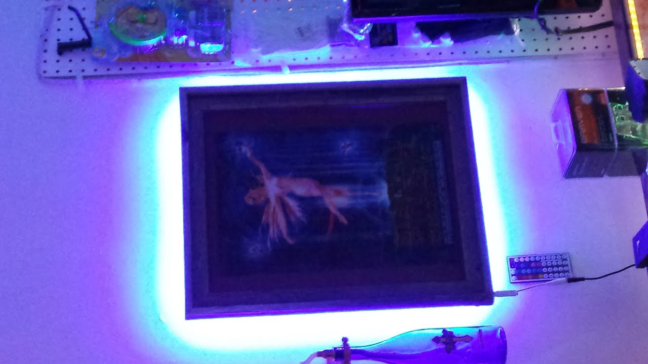 led light picture frame light up you picture or art work with controlable led strip light