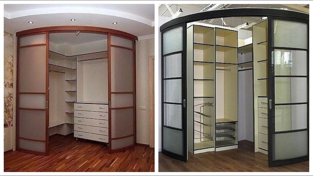 40 Bedroom cupboards ideas || Wooden Corner Wardrobe ...