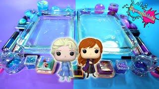 Mezclando Slime de Elsa vs Ana (Frozen) - Supermanualidades
