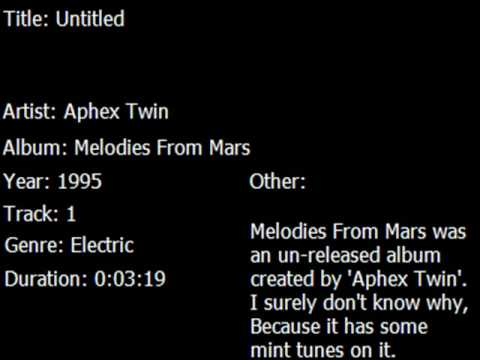 Melodies From Mars - Untitled -Track 1