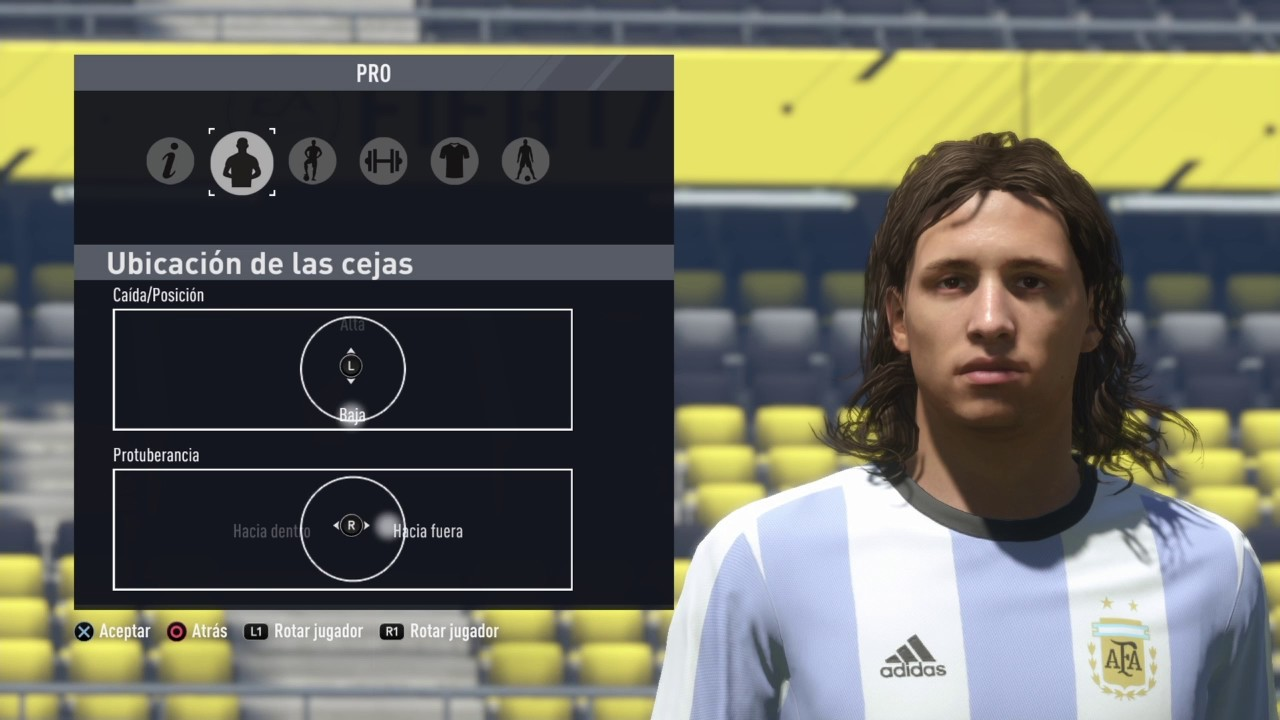 Hernán Crespo FIFA 17 Look a like Apariencias Virtual Pro