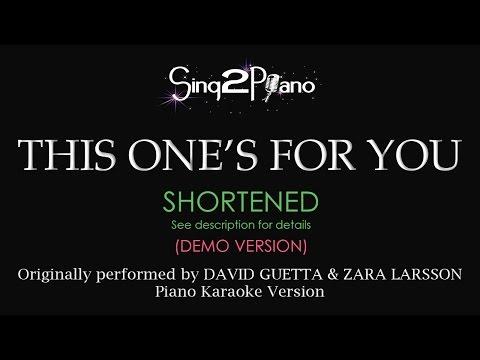 This One's For You (Piano karaoke demo) David Guetta & Zara Larsson