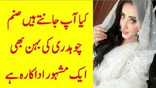 Sanam Chaudhry is sister of Famous Pakistani  Actress