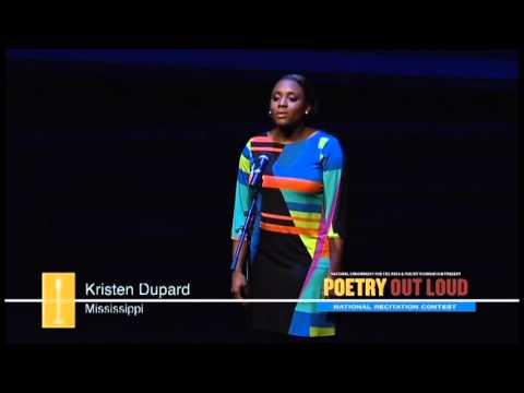 Kristen Dupard recites