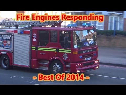 Fire Engines Responding --BEST OF 2014--