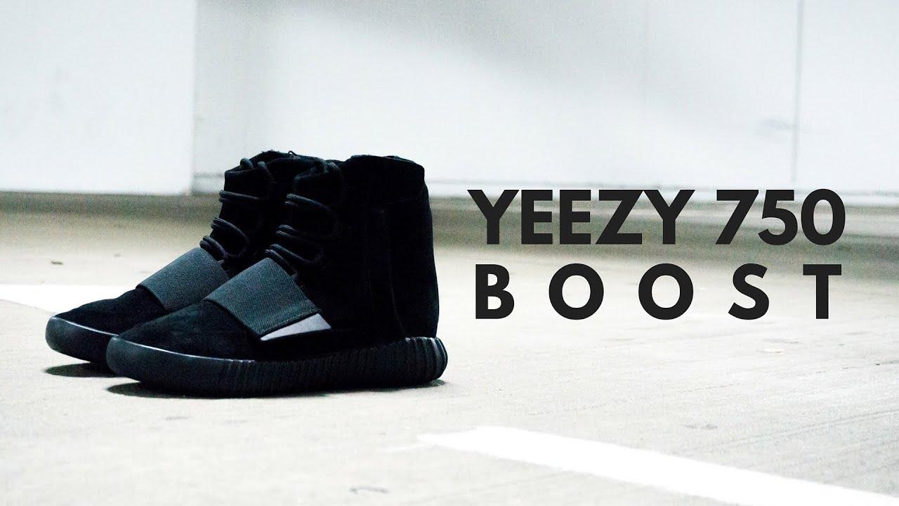 f55e02564 yeezy boost 750 on feet yeezy boost black 13