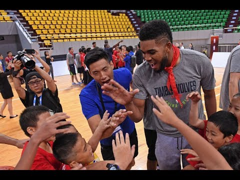 Minnesota Timberwolves Learn & Play Celebration in Shenzhen