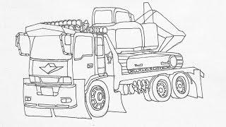 วาดรถบรรทุกรถแม็กโคร Truck Drawing L พี่เป๋ว น้องปิ๋ว