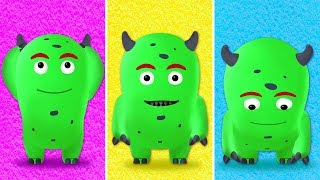 Head, Shoulders, Knees & Toes - Exercise Song for Children with Monday The Monster