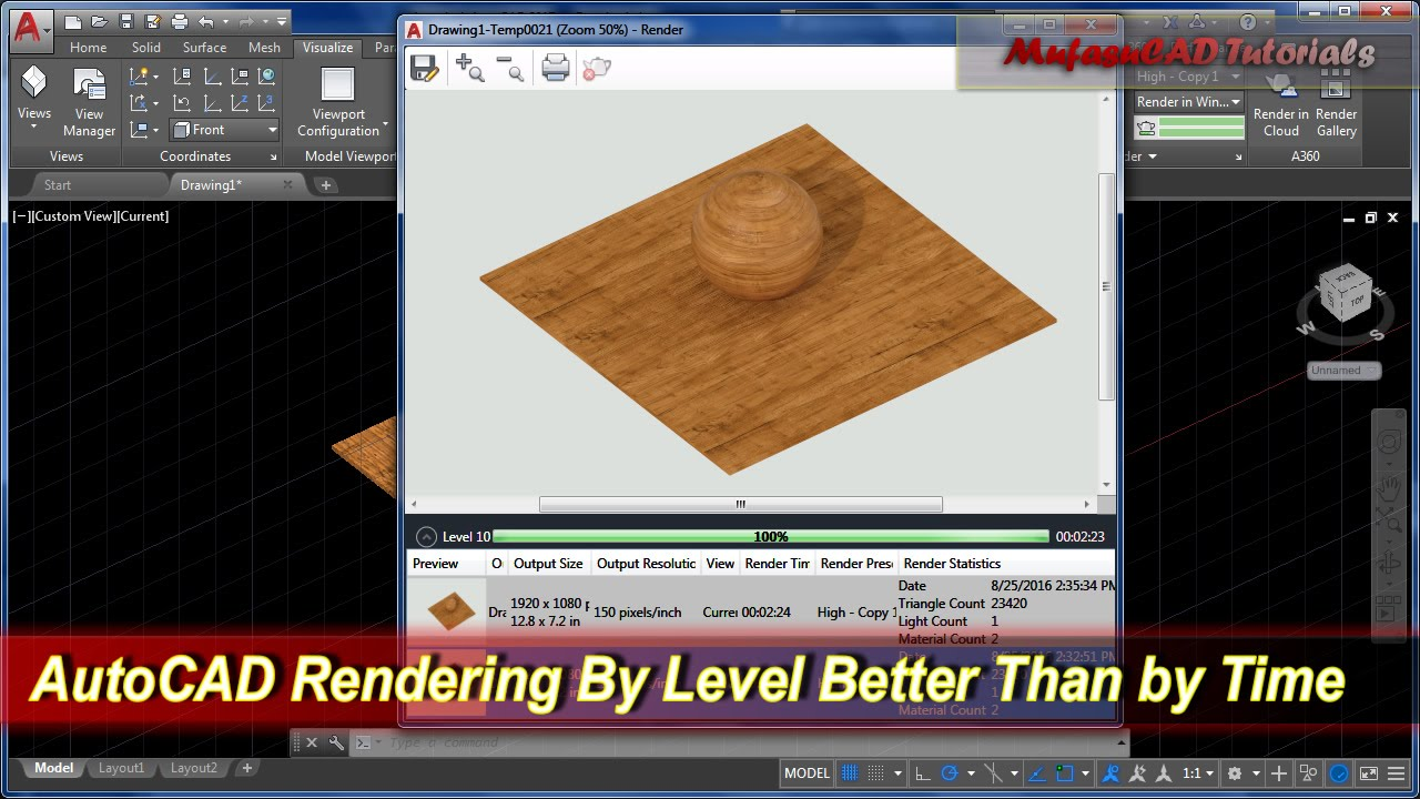 AutoCAD Rendering By Level Better Than by Time