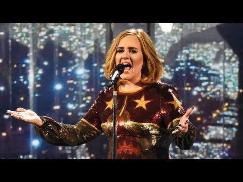 "Adele Performs Powerful ""When We Were Young"" At 2016 BRIT Awards"