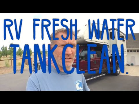 RV Fresh Water Tank Access Port Install.  Clean & Sanitize INSIDE the tank!