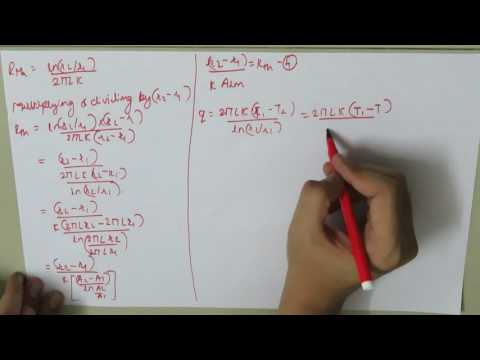 1 D steady state heat conduction through hollow cylinder