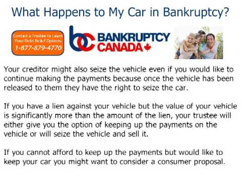 What Happens to My Car in Bankruptcy? - Bankruptcy Canada