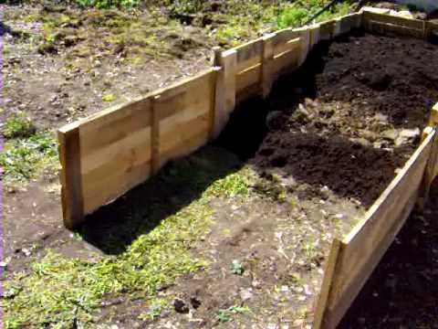 видео: Делаем огород, грядки- короба .5 часть.garden.
