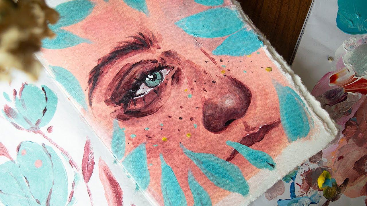 Pinta conmigo - Retrato en acrílico - Celia López Bacete