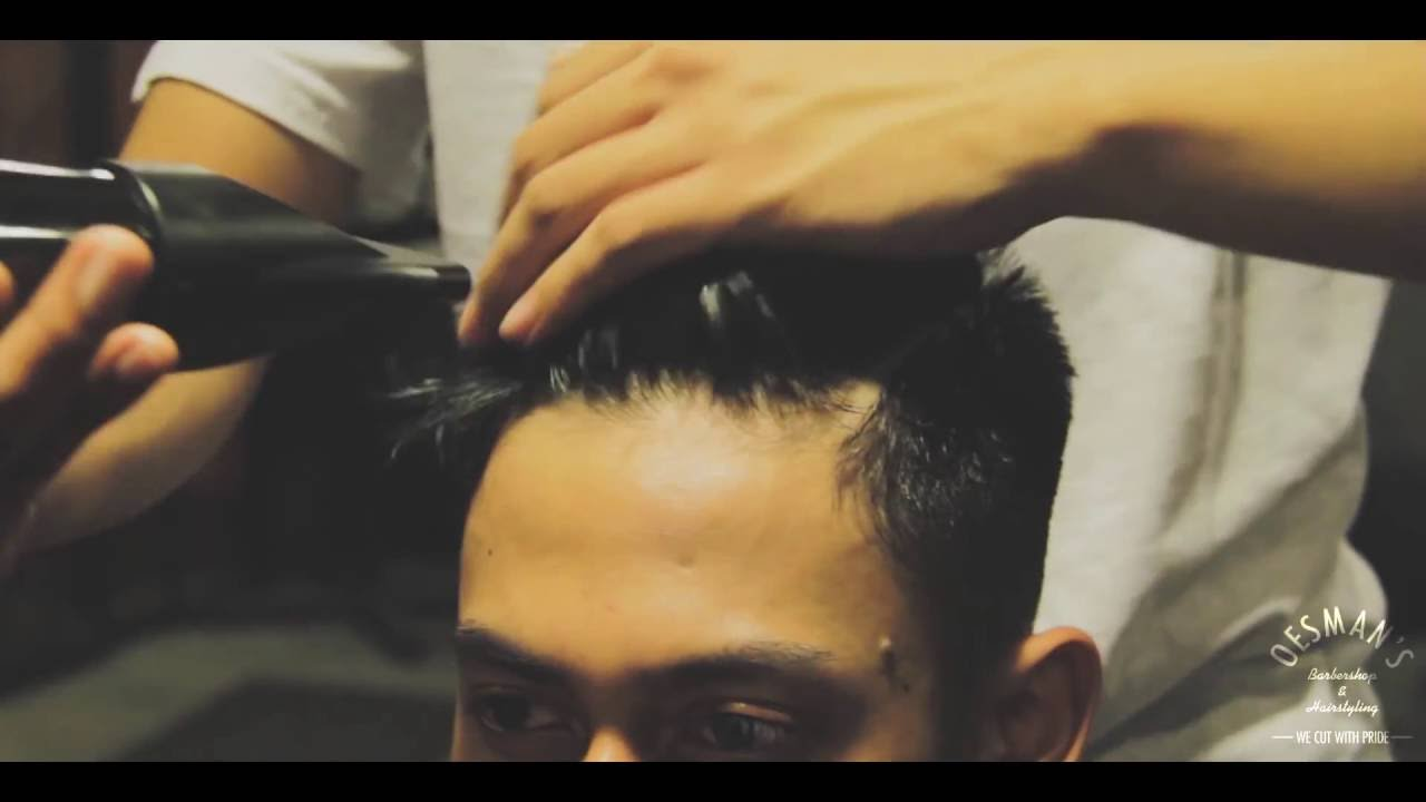 how to cut a modern pompadour