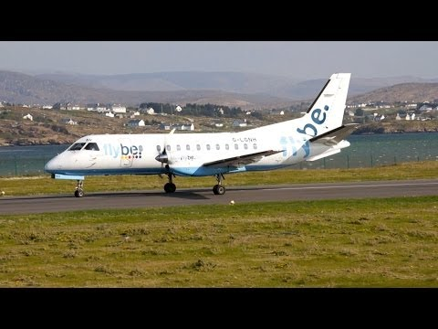 Crosswind Landing & Take-Off Saab 340 at Donegal Carrickfinn Airport