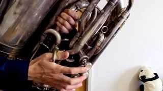 今回はC管チューバで演奏してみました。 ゲスの極み乙女さんの曲は、間...