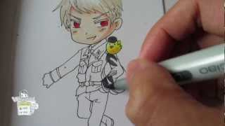 How to draw Chibi Prussia from Hetalia プロイセン