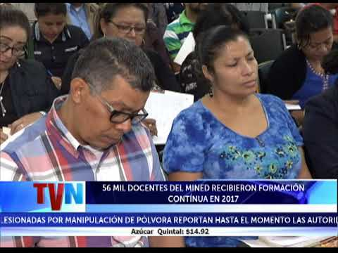 56 MIL DOCENTES DEL MINED RECIBIERON FORMACIóN CONTINUA EN 2017