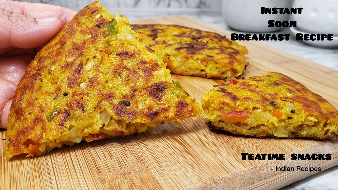 Breakfast Recipe | Sooji snacks | Nashta | Teatime Snacks | Lunch Box | Tiffin Box | Indian Recipes