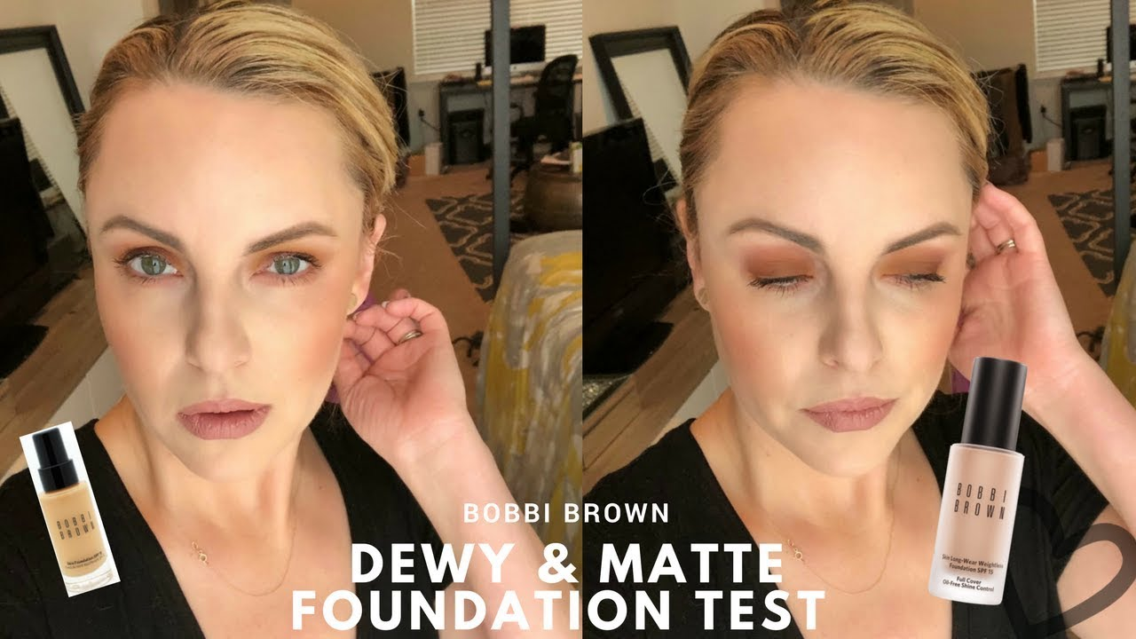 New Bobbi Brown Dewy Matte Foundation Test Elle Leary Artistry Reliance Pomade