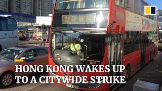 Hong Kong crippled by general strike over extradition bill crisis