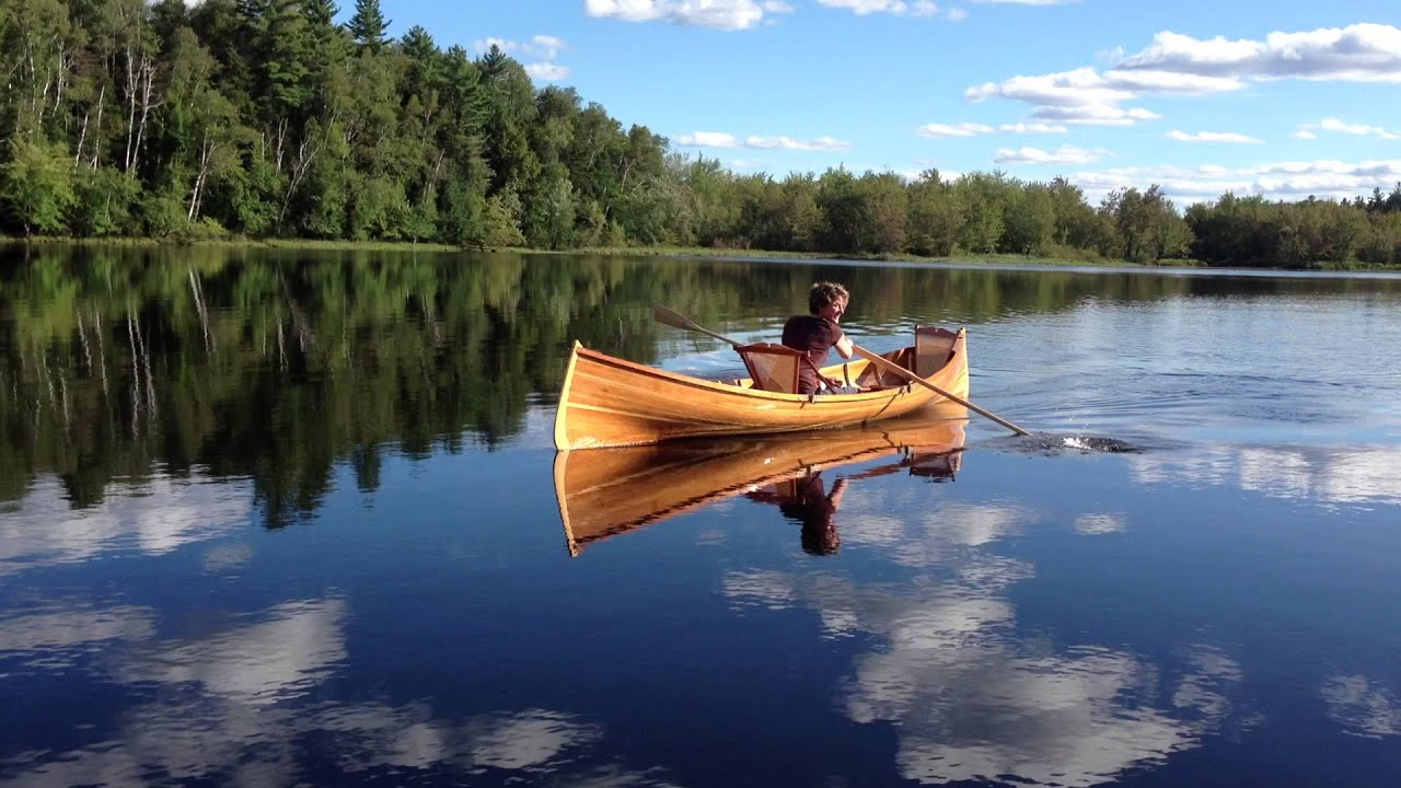 Adirondack guideboat youtube for Guide boat
