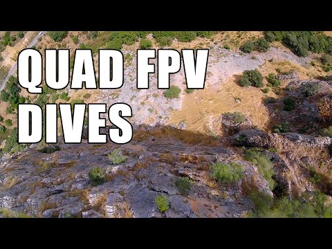 Quadcopter FPV Dives in Mountains