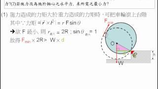 [物理教學影片]範例:滾上台階問題