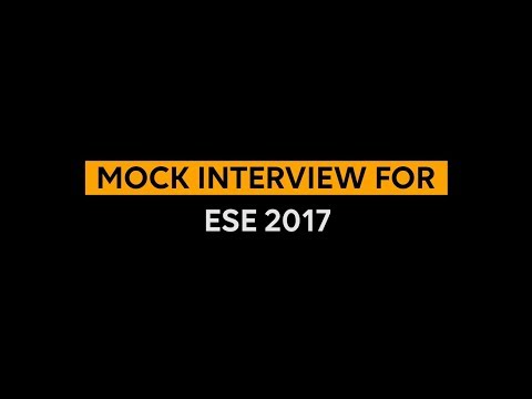 MOCK INTERVIEW FOR UPSC ENGINEERING SERVICES EXAMINATION(ESE/IES)