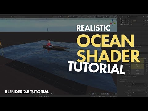 Realistic OCEAN SHADER BLENDER 2.8 TUTORIAL