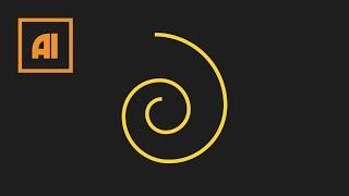 Как сделать спираль в иллюстраторе - Spiral Tool | Урок Adobe Illustrator