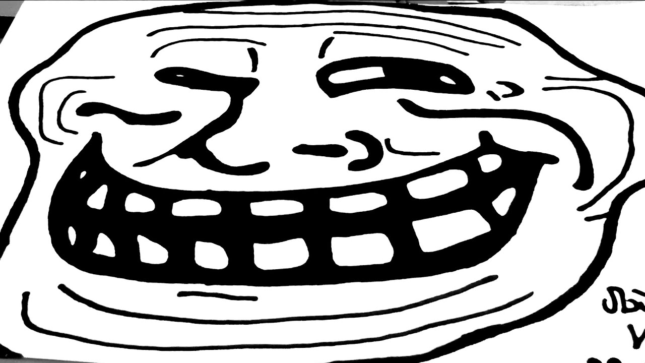 Line Art Meme : How to draw memes meme faces easy a troll face with
