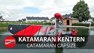 catamaran capsize recovery - Katamaran Aufrichten nach Kenterung