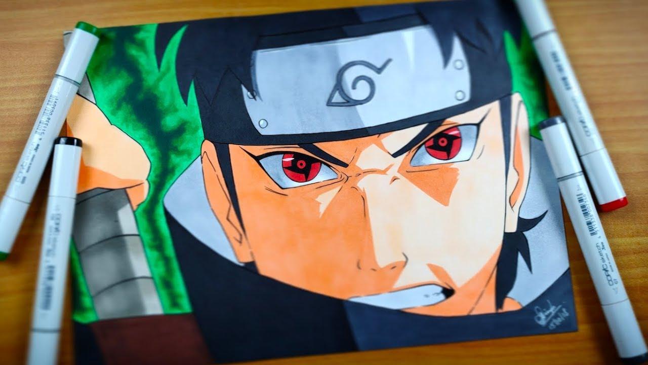 Shisui Uchiha Drawing using COPIC - Naruto Shippuden - YouTube